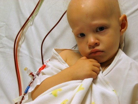 Donna during her stem cell harvest in 10/2007.