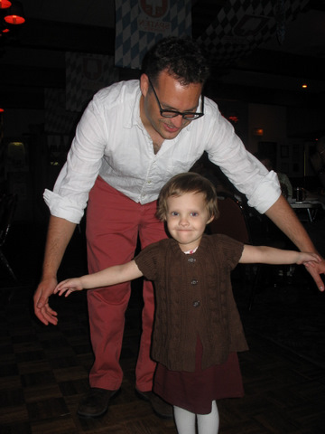 Dancing at Milo's baptism