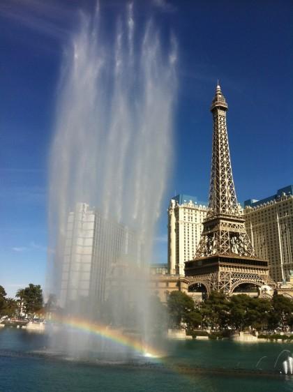 Fountain with Rainbow