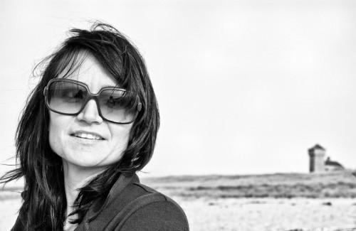Jen on beach