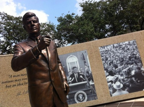 The Kennedy Monument in Ft. Worth, Texas -- significantly more moving than any public monument in Dallas.