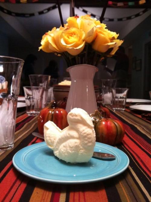 The devil is in the details.  Turkey shaped butter.  Butter tastes better when it's shaped like a turkey!