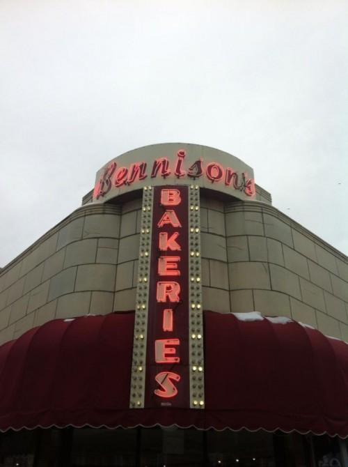 Bennison's Bakery in Evanston, Illinois.  Best chocolate donuts around.