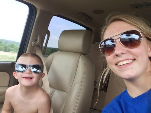 Cade and his older sister Codi taking a selfie in August 2014.​