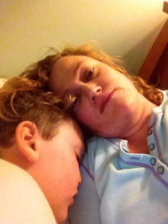 Matt and his Mom, shortly after diagnosis.