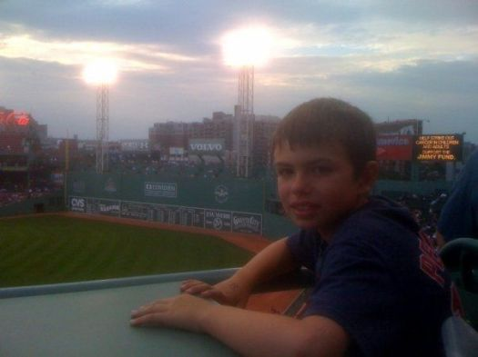 Teddy at Fenway Park.
