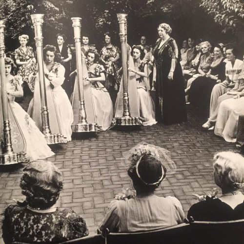 A harp concert for the Atlanta chapter of the Daughters of the American Revolution, 1944.