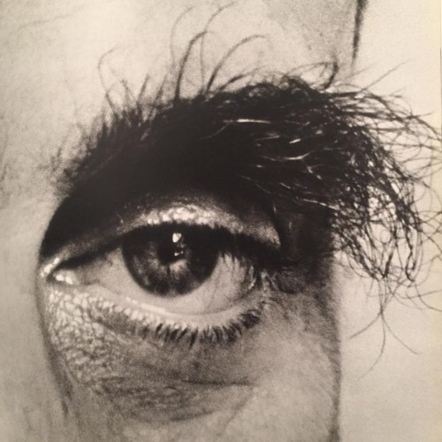 """Closeup of the amazing eyebrows of Edward Teller, """"the father of the hydrogen bomb.""""  His eyes always freaked me out, especially as an entire page layout was devoted to them.  I honestly used to ponder, as a youngster, if the radiation he was exposed to made his eyebrows so unruly."""