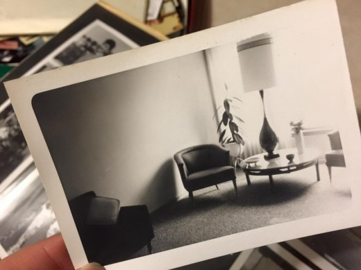 My parent's mid-century modern living room, 1958 Chicago.