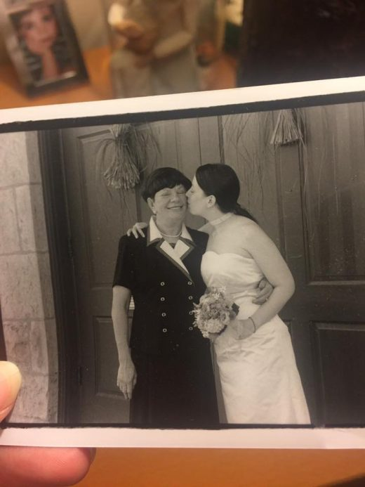 My Mom and I on my wedding day, 2001.