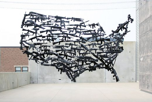 Art installation done by Michael Murphy at the Urban Institute for Contemporary Art in Grand Rapids, Michigan.